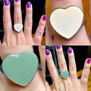 Vintage Reversible Heart Ring